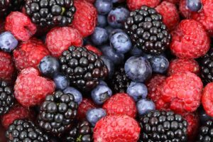 Reducing feed costs by feeding berry seed residues